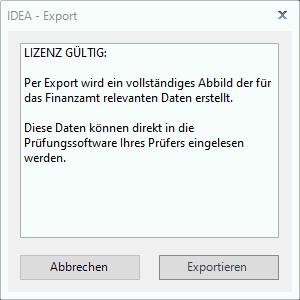 IDEA Export